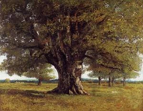The Oak at Flagey aka The Oak of Vercingetoris 1864